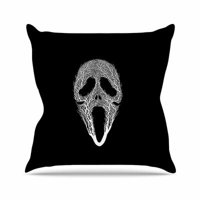 BarmalisiRTB the Scream Tree Outdoor Throw Pillow Size: 18 H x 18 W x 5 D