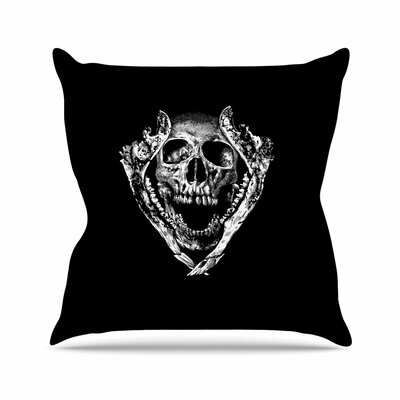 BarmalisiRTB Jawz Digital Outdoor Throw Pillow Size: 18 H x 18 W x 5 D