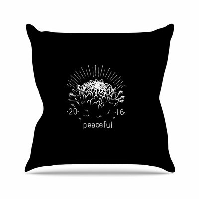 BarmalisiRTB Peaceful - Tags Outdoor Throw Pillow Size: 18 H x 18 W x 5 D