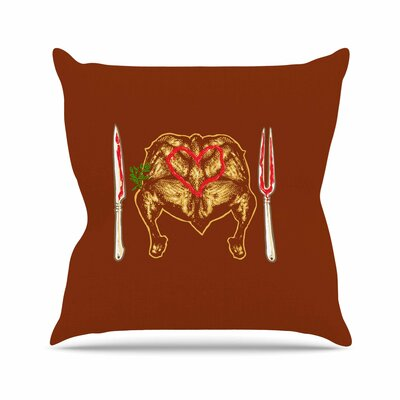 BarmalisiRTB Weekly Menu Digital Outdoor Throw Pillow Size: 16 H x 16 W x 5 D