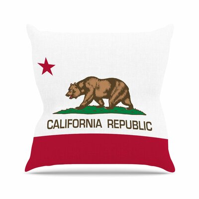 Bruce Stanfield California State Flag Outdoor Throw Pillow Size: 18 H x 18 W x 5 D