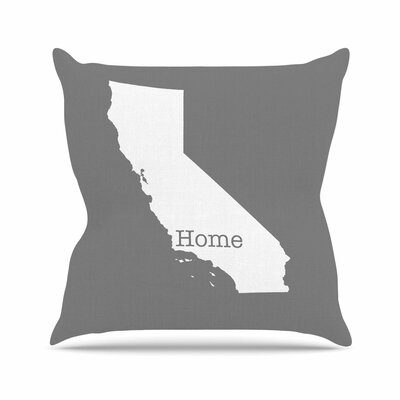 Bruce Stanfield California is Home Outdoor Throw Pillow Size: 16 H x 16 W x 5 D