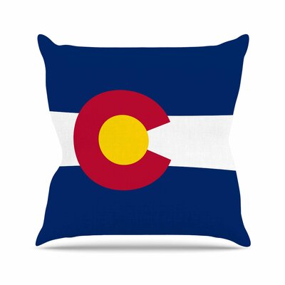 Bruce Stanfield Colorado State Flag Outdoor Throw Pillow Size: 18 H x 18 W x 5 D