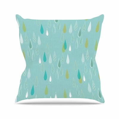 Bridgette Burton Feathe Rain Outdoor Throw Pillow Size: 18 H x 18 W x 5 D