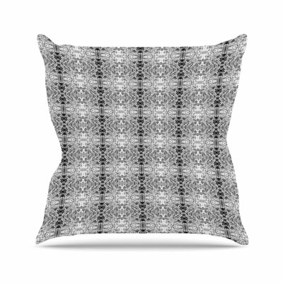 Bruce Stanfield Rage Against the Machine Outdoor Throw Pillow Size: 16 H x 16 W x 5 D, Color: Black/White