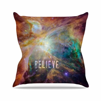 Bruce Stanfield Orion Nebula Believe Outdoor Throw Pillow Size: 18 H x 18 W x 5 D