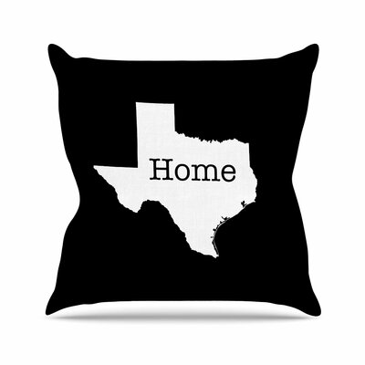 Bruce Stanfield Texas is Home Outdoor Throw Pillow Size: 16 H x 16 W x 5 D, Color: Black/White