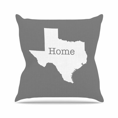Bruce Stanfield Texas is Home Outdoor Throw Pillow Size: 18 H x 18 W x 5 D, Color: Gray/White