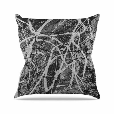 Bruce Stanfield Verness in Grayscale Outdoor Throw Pillow Size: 16 H x 16 W x 5 D