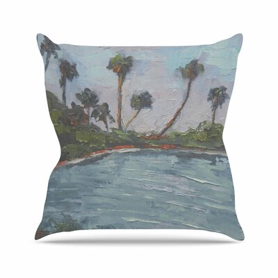 Carol Schiff Lagoon Outdoor Throw Pillow Size: 16 H x 16 W x 5 D
