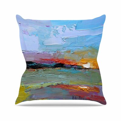 Carol Schiff Hues Painting Outdoor Throw Pillow Size: 18 H x 18 W x 5 D