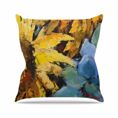 Carol Schiff Sunflowers and Hydrangea Floral Outdoor Throw Pillow Size: 18 H x 18 W x 5 D