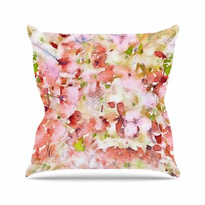 Carolyn Greifeld Floral Fantasy Outdoor Throw Pillow Size: 18 H x 18 W x 5 D, Color: Pink