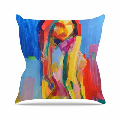 Cecibd Painting Outdoor Throw Pillow Size: 16 H x 16 W x 5 D