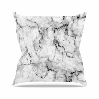 Marble No 2 Modern Outdoor Throw Pillow Size: 18 H x 18 W x 5 D