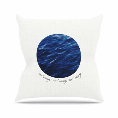 Sail Away Outdoor Throw Pillow Size: 16 H x 16 W x 5 D