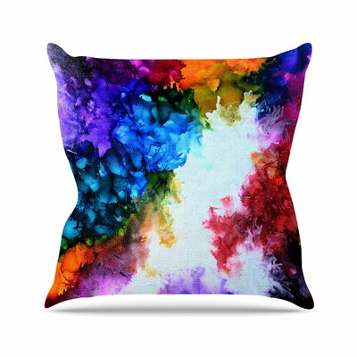 Claire Day Fiona Painting Outdoor Throw Pillow Size: 16 H x 16 W x 5 D