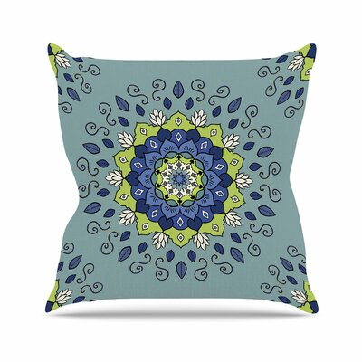 Cristina Bianco Mandala Geometric Outdoor Throw Pillow Size: 16 H x 16 W x 5 D