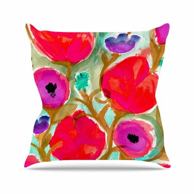 Crystal Walen Fiona Flower Outdoor Throw Pillow Size: 18 H x 18 W x 5 D