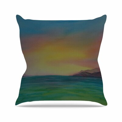 Cyndi Steen Christys Island Outdoor Throw Pillow Size: 18 H x 18 W x 5 D