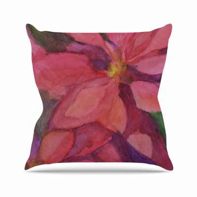Cyndi Steen Cool Poinsettias Outdoor Throw Pillow