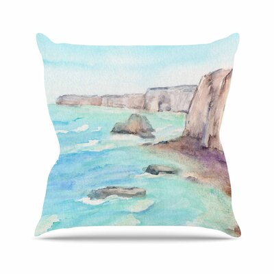 Cyndi Steen Cliffs at Normandie Travel Outdoor Throw Pillow Size: 18 H x 18 W x 5 D