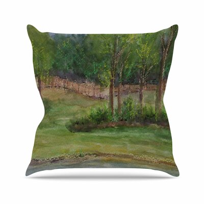 Cyndi Steen a Storm at the Strand Travel Outdoor Throw Pillow Size: 16 H x 16 W x 5 D