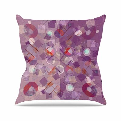 Cvetelina Todorova Purple Mess Abstract Outdoor Throw Pillow Size: 18 H x 18 W x 5 D