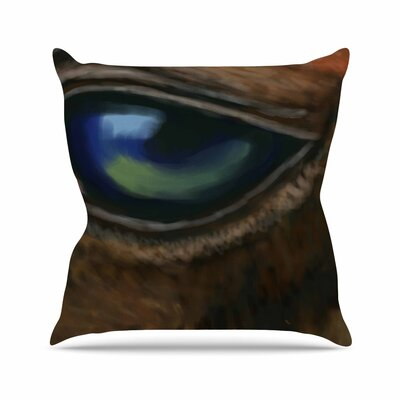 Cyndi Steen Arabian Eye Animals Outdoor Throw Pillow Size: 18 H x 18 W x 5 D