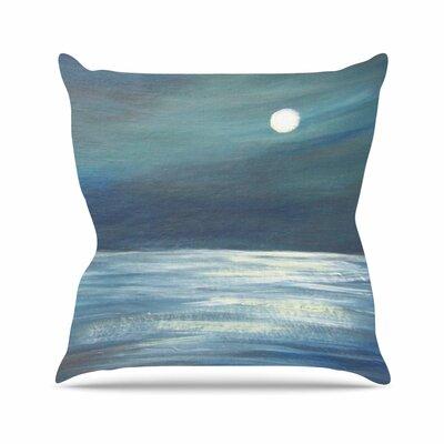 Cyndi Steen a Walk in the Moonlight Outdoor Throw Pillow Size: 16 H x 16 W x 5 D