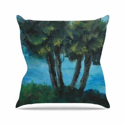 Cyndi Steen Twin Palms Outdoor Throw Pillow Size: 16 H x 16 W x 5 D