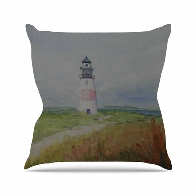 Cyndi Steen Sankaty Lighthouse Outdoor Throw Pillow Size: 18 H x 18 W x 5 D