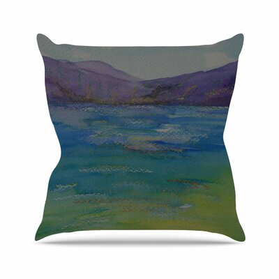 Cyndi Steen Mountains Outdoor Throw Pillow