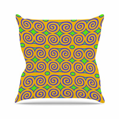 Dan Sekanwagi Locked Rams Horns - Clear Day Digital Outdoor Throw Pillow Size: 16 H x 16 W x 5 D
