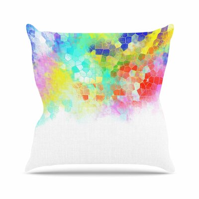 Dan Sekanwagi Structure Abstract Outdoor Throw Pillow Size: 16 H x 16 W x 5 D