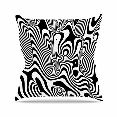 Danny Ivan Trippy Outdoor Throw Pillow Size: 18 H x 18 W x 5 D