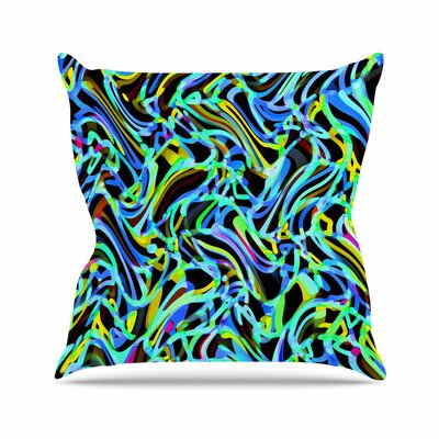 Dawid Roc Camouflage FreeForm Movement Digital Outdoor Throw Pillow Size: 16 H x 16 W x 5 D, Color: Blue