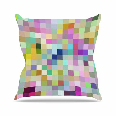 Dawid Roc Colorful Pixels Outdoor Throw Pillow Size: 16 H x 16 W x 5 D