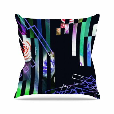 Dawid Roc Geometric Stripes Abstract Stripes Outdoor Throw Pillow Size: 16 H x 16 W x 5 D