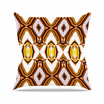 Dawid Roc Inspired by Psychedelic Art 1 Pattern Outdoor Throw Pillow Size: 16 H x 16 W x 5 D