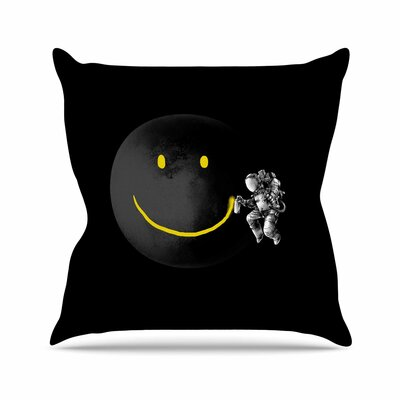 Digital Carbine Make  a Smile Outdoor Throw Pillow Size: 18 H x 18 W x 5 D