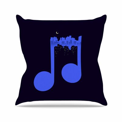 Digital Carbine Night Music Illustration Outdoor Throw Pillow Size: 16 H x 16 W x 5 D