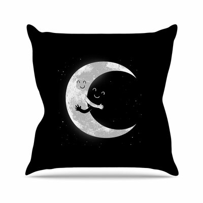 Digital Carbine Moon Hug Outdoor Throw Pillow Size: 16 H x 16 W x 5 D