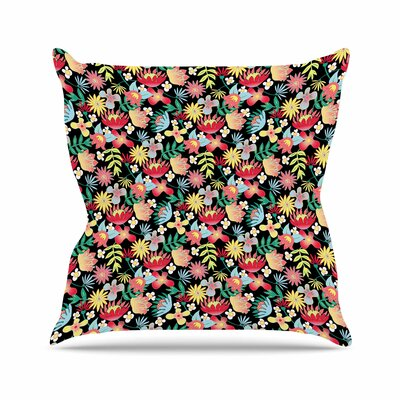 DLKG Design Flower Power Outdoor Throw Pillow Size: 18 H x 18 W x 5 D