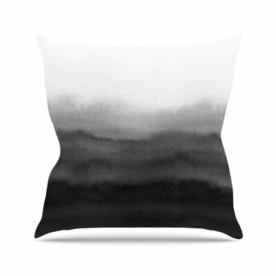 Draper Ombre Ink Wash Outdoor Throw Pillow Size: 18 H x 18 W x 5 D