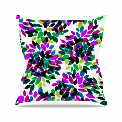 Ebi Emporium Dahlia Dots Outdoor Throw Pillow Size: 16 H x 16 W x 5 D, Color: Purple/Green