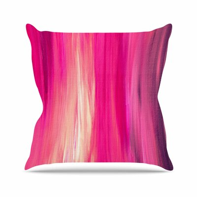 Ebi Emporium Irradiated Outdoor Throw Pillow Size: 18 H x 18 W x 5 D, Color: Teal/Lavender