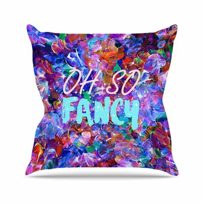 Ebi Emporium Oh So Fancy Outdoor Throw Pillow Size: 16 H x 16 W x 5 D