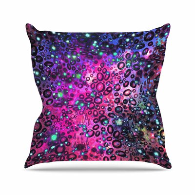 Ebi Emporium Rainbow Dotty Ocean, Outdoor Throw Pillow Size: 18 H x 18 W x 5 D, Color: Purple