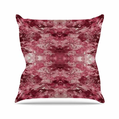 Ebi Emporium Tie Dye Helix Outdoor Throw Pillow Size: 18 H x 18 W x 5 D, Color: Burgandy